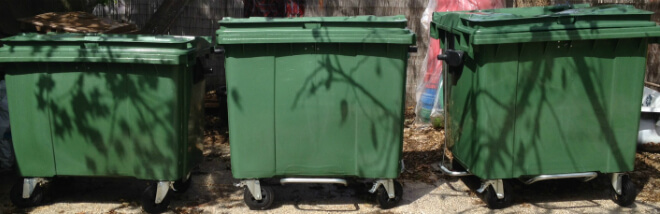 four-wheeled waste containers